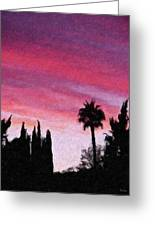 California Sunset Painting 2 Greeting Card