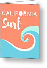 California Surf- Art By Linda Woods Greeting Card