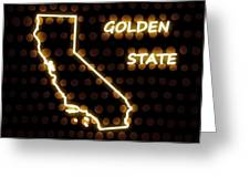 California - The Golden State Greeting Card