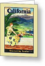 California This Summer Restored Vintage Poster Greeting Card