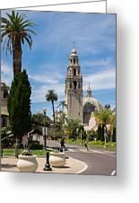California Tower In Balboa Park Greeting Card