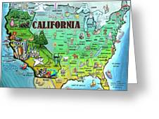 California Usa Greeting Card