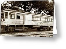California Western  M 100 Gas Railcar  Skunk Train  Circa 1930 Greeting Card