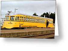 California Western Railroad Motorcar M300 Fiort Bragg California Greeting Card