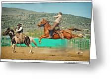 Californios Burns Ranch Bronc 2012 Greeting Card
