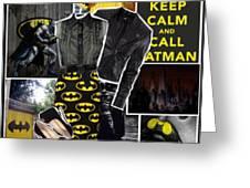Call Batman Greeting Card