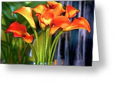 Calla Lilies Bouquet Greeting Card