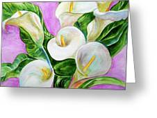 Calla Lillies 3 Greeting Card