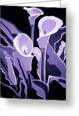 Calla Lillies Lavender Greeting Card