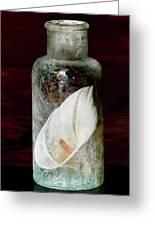 Calla Lily In A Bottle Greeting Card