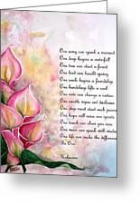 Callas   Poem Greeting Card