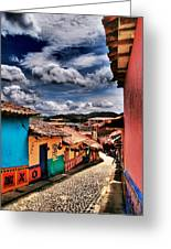 Calle De Colores Greeting Card