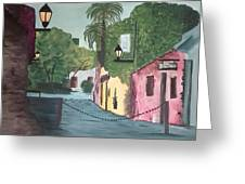 Calle De Los Suspiros, Colonia. Uruguay Greeting Card