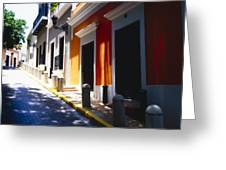 Calle Del Sol Old San Juan Puerto Rico Greeting Card by George Oze