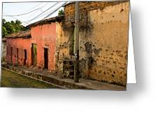Calle En Suchitoto Greeting Card