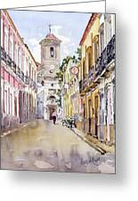 Calle Fuente Alhabia Greeting Card