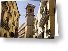 Calle Serranos In Valencia Greeting Card