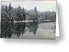 Calm And Frosty Greeting Card