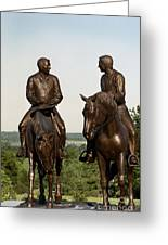 Calm As A Summers Morning Hyrum And Joseph Smith Bronze Sculpture Greeting Card