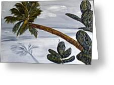 Calm Beach Palm Greeting Card