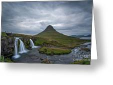 Calm Before The Storm At Kirkjufell Greeting Card