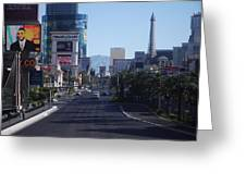 Calm On Vegas Strip Greeting Card