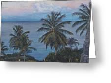 Calm In The Carribean Greeting Card