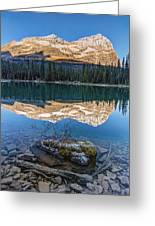 Calm O'hara Lake And Reflection At Sunrise Greeting Card