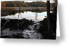 Calm Photo Of Water Flowing Greeting Card