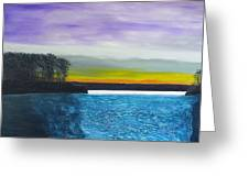 Calm River At Dusk Greeting Card