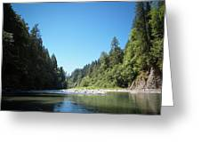 Calm Sandy River In Sandy, Oregon Greeting Card