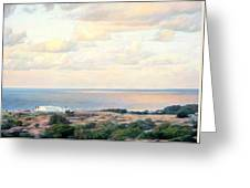 Calm Sea... View From My Balkon Greeting Card