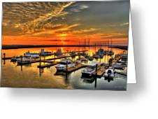Calm Waters Bull River Marina Tybee Island Savannah Georgia Art Greeting Card