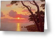 Calme De Soir Cote Dazur Greeting Card