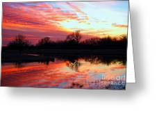 Calming Sunset Greeting Card