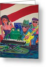 Calogs Frog Blues Band Greeting Card