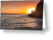Caloundra Beach Sunset Greeting Card