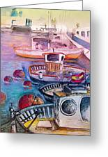 Calpe Harbour 03 Greeting Card