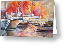 Calpe Harbour Spain Greeting Card