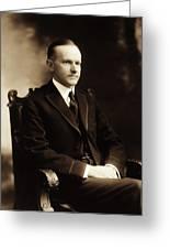 Calvin Coolidge Portrait Greeting Card