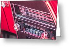 Camaro Controls Greeting Card