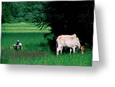Cambodian Farmer Greeting Card