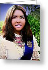 Cambodian Girl In National Dress Greeting Card