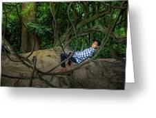 Cambodian Jungle Swing Greeting Card