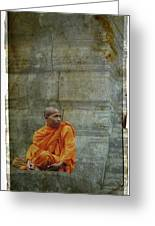 Cambodian Monk At Angkor Wat Greeting Card
