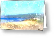 Cambria On The Pacific Greeting Card by Arline Wagner