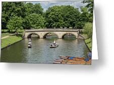 Cambridge Punting On The River Greeting Card
