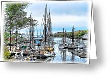 Camden Bay Harbor Greeting Card