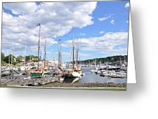 Camden Maine Harbor Greeting Card