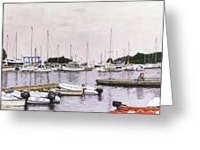 Camden Maine Marina Greeting Card